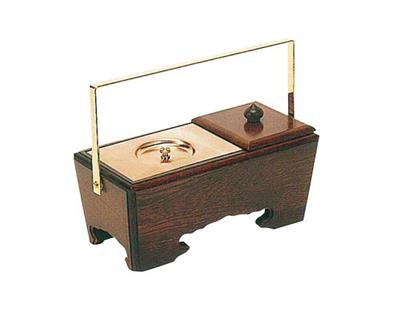 手提香炉[栓](オトシ蓋付)サイズは2種類の写真