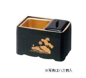 角割香炉【木質】黒塗天金[5寸]の写真