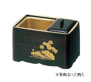 角割香炉【木質】木目塗天金[5寸]の写真