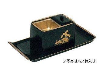 角割香炉盆付[木質]5寸(黒塗天金・朱塗天金または木目塗天金)の写真
