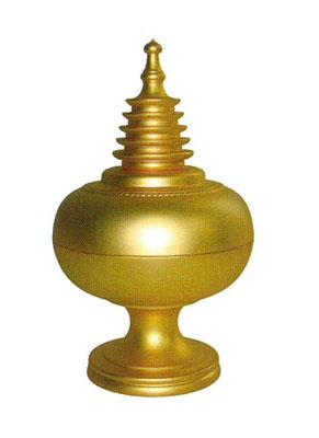 宝珠塔香合[金メッキ]の写真