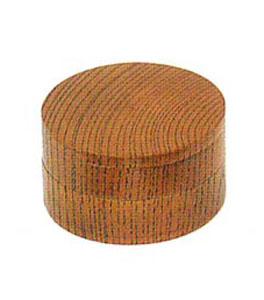 二段式香合[欅][ネジ切]2.5寸の写真