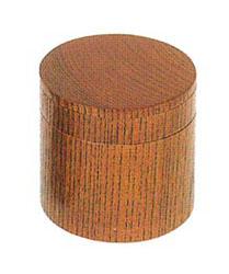 携帯用二段式丸香炉[欅][ネジ切]2.5寸の写真