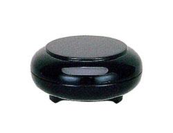 光輪型香合 UFO型三つ足付 [黒塗]3寸の写真