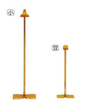 ワンタッチ式掛軸台[金メッキ]サイズは2種類の写真