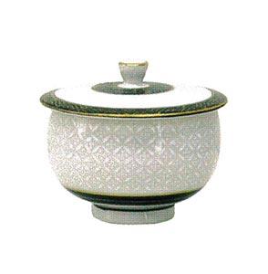 九谷焼蓋付輪碗[白七宝3寸]の写真