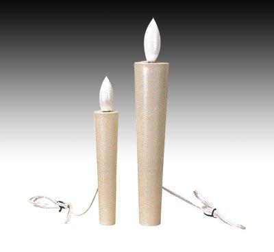 寺院用電気ローソク(100V)[白2本入]サイズは2種類の写真