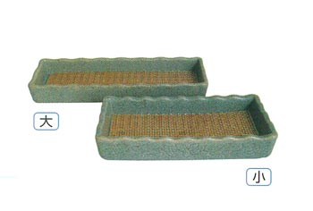 石目線香ネカセ台[陶器]サイズは2種類の写真
