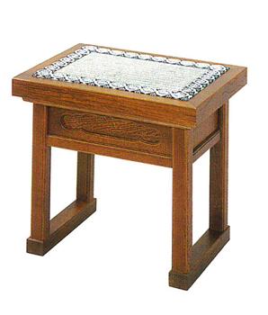 内陣用椅子(栓)[ゴザ付]金具なし(ウレタン塗)の写真