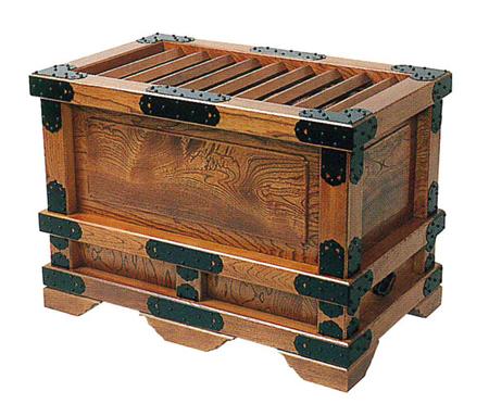 特上太柱付賽銭箱[欅製スリ漆仕上げ]金具付[総ムク]サイズは2種類の写真