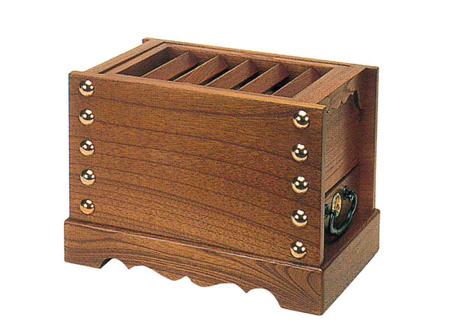 箱型賽銭箱[欅製]サイズは6種類の写真