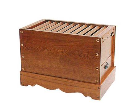 箱型賽銭箱[栓]サイズは7種類の写真