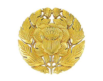 定紋 抱牡丹(だきぼたん)[木製]サイズは4種類の写真