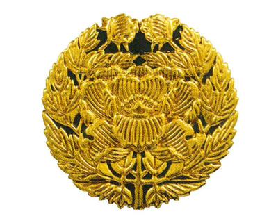 セラミック定紋 抱牡丹(だきぼたん)[横穴式]サイズは2種類の写真