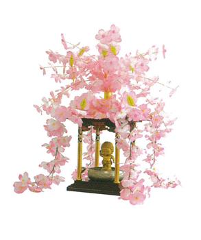花御堂用桜冠・屋根かざりセットの写真