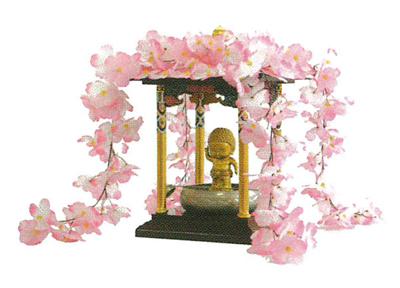 花御堂用桜屋根かざりの写真