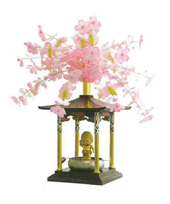 花御堂用桜冠かざりの写真