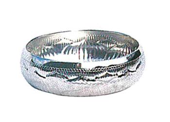 灌仏盤(深彫入)[真鍮ニッケルメッキ]8寸の写真