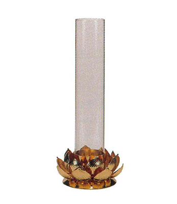 蓮型大燭台[金メッキ]の写真
