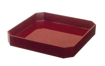 折敷(おしき)[朱塗裏黒][カシュー塗](サイズは5種類)の写真