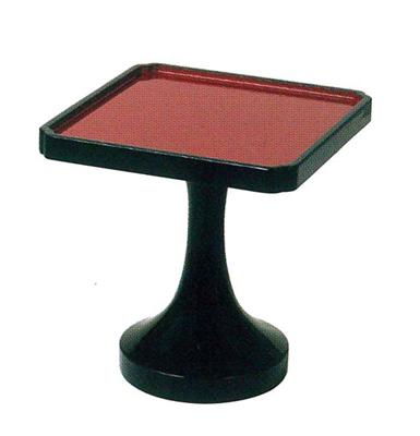 木製平安型角高杯[黒漆内朱]サイズは3種類(単位:1個)の写真