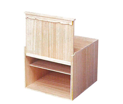 華篭用収納箱[桐材]の写真