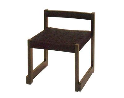 背短お詣り椅子[黒メッシュ]の写真