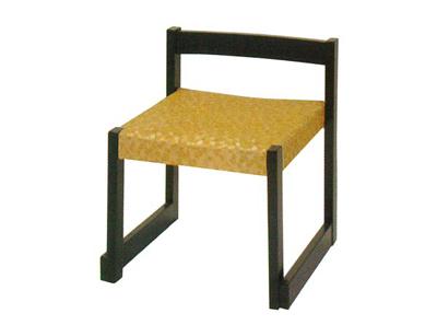 背短お詣り椅子[花柄]の写真