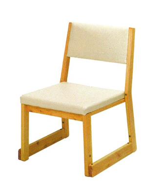 ヒノキ製本堂用お詣り椅子(サイズは3種類)の写真