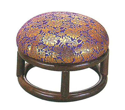 金襴丸型座椅子(籐製)の写真