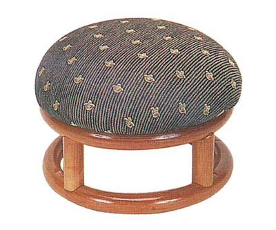 籐製丸型座椅子の写真