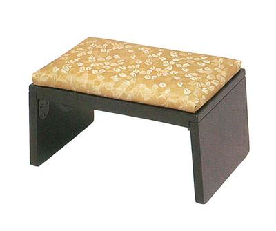 YR折畳正座椅子[木製]ダークブラウンの写真
