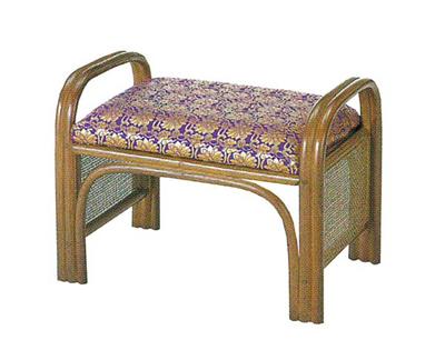 仏前金襴座椅子(籐製)の写真