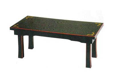 新二月堂机[宝相華入][黒塗面朱]板バネ式(サイズは5種類)の写真