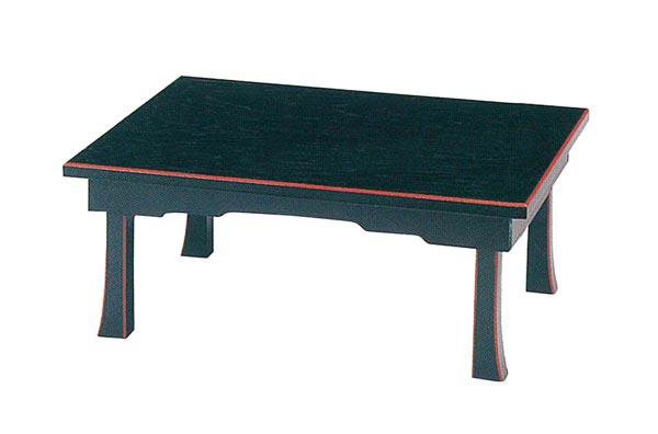 お盆用飾り台[黒塗面朱][折畳式][板バネ式]サイズは2種類の写真