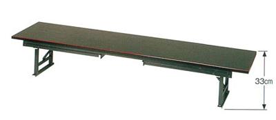 座卓兼用型テーブル(黒塗面朱又は欅調)の写真