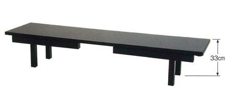 座卓兼用型法事机[板バネ式][アーム金具式](黒塗又は欅調)の写真