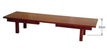 座卓兼用型接客机[板バネ式][アーム金具式](黒塗面朱又は欅調)の写真