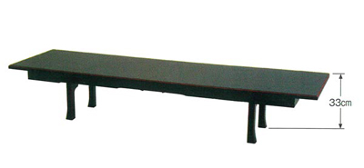 座卓兼用型二月堂机[黒塗面朱][板バネ式][アーム金具式]の写真
