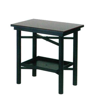 折畳式組立机(置台付)[黒塗面朱]の写真