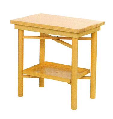 折畳式組立机[白木](置台付)(サイズは2種類)の写真