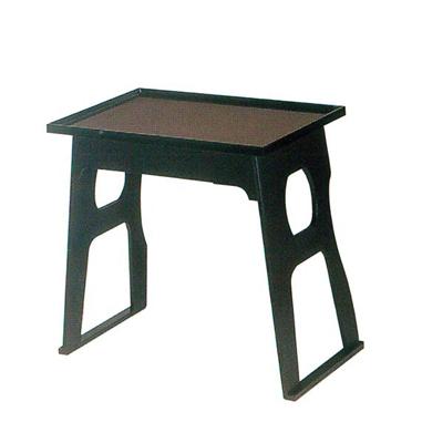 積み重ねお盆机+お盆セット[タタキ塗]の写真
