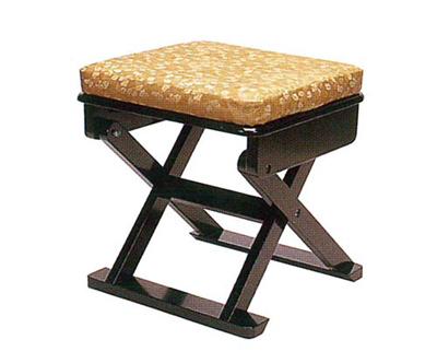 御詠歌用折畳椅子[黒塗]の写真