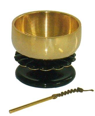 菊おリン(純金メッキ)[黒]1.8寸の写真