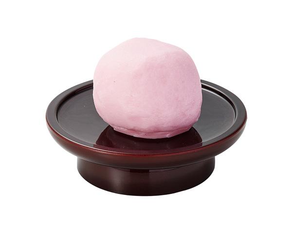 お供え菓子【上用まんじゅう(紅)】※イミテーションの写真