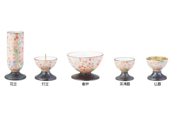 彩花(あやか)五具足【有田焼】香炉3.0寸[なでしこ]の写真