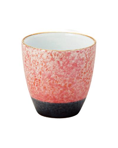 乱舞(らんぶ)茶湯器【有田焼】[レッド釉吹き]の写真