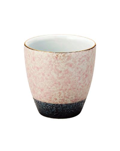 乱舞(らんぶ)茶湯器【有田焼】[ピンク釉吹き]の写真