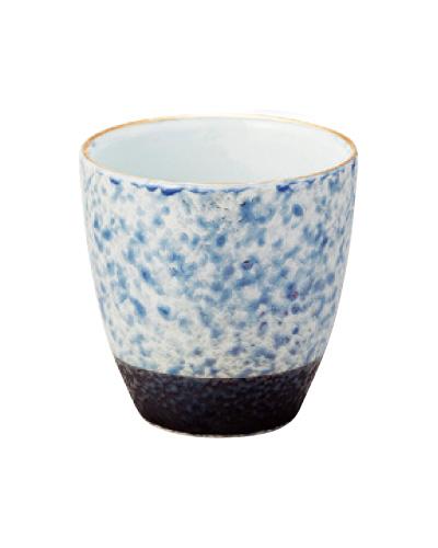 乱舞(らんぶ)茶湯器【有田焼】[ブルー釉吹き]の写真