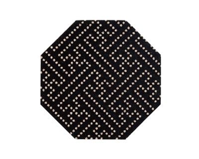 印伝調仏具敷 10枚入[サヤ 黒](サイズは3種類)の写真